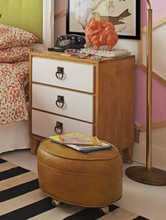 Nightstand in The Totally DIY Kid's Room from HGTV