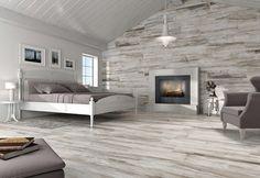 wood look tiles used