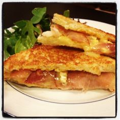 Brie, Prosciutto, Pear & Apricot Grilled Cheese
