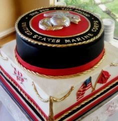 Marine Corps Cake need to make for my sister, Effia Harrison