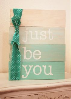 Love the paint-chip card look to this piece; and irregular boards.  Could be used with any short inspirational phrase. girls camp craft ideas, pallet art ideas, inspirational crafts, ideas to use pallets, ombre art, camp crafts, girls camp ideas, diy art board, girl pallet art
