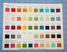 stampin up color chart | Heart's Delight Cards: My Growing Family