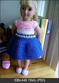 Sunnie's summer frock (18 inch doll)
