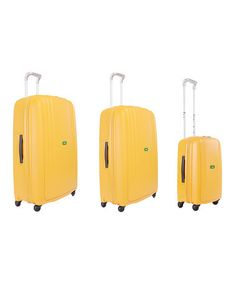 Amazing price on spinner travel sets in every color. (Hint: bright colors make it way easier to spot on luggage belts.)