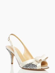 white and silver sparkle party by kate spade