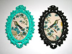 Two Up Cycled Brass Frames With Hummingbird by borahstyle on Etsy, $35.00
