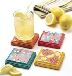 LOVE these #DIY #summertime coasters!