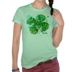 Artistic Shamrock or Women Tshirt #stpatricksday #stpattys #stpattysday #irish #green #shamrock #zazzle #funnytshirts #stpatricksdaytshirts #sweepstakes