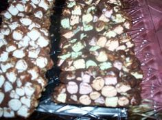 Church windows ..they taste like the rocky road candy bars ...delicious.