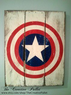 Captain America Vintage Wood Pallet Sign by TheCreativePallet, $45.00