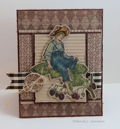Card by Deb using products by LaBlanche, JustRite and May Arts from The Stamp Simply Ribbon Store.