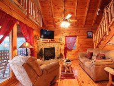 Gatlinburg Cabin Rental: $79/nite Pigeon Forge/gatlinburg Log Cabin Near All Main Attractions.   HomeAway