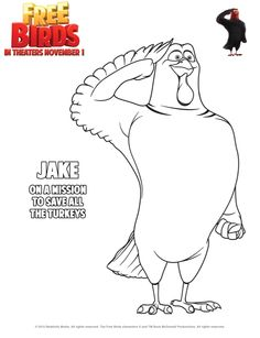 Jake coloring sheet! #FreeBirds #activities