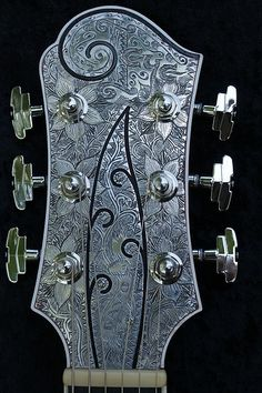 La Perla - Headstock (engraved by Hand) by Davo