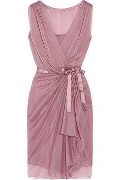 Alberta Ferretti Silkchiffon Wrap Dress \ http://www.pinterest.com/pin/138837600985286577/