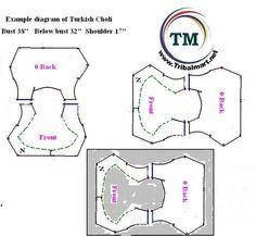 choli pattern, vest pattern