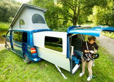 The Doubleback - Clever VW van based RV currently available only in the UK.