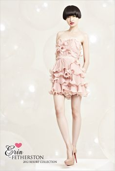 Short with pink ruffles