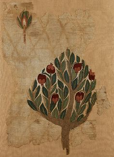 Textile Fragment with Tree, 6-7th century. Possibly Egyptian, MET