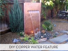 How To: Build a Copper Water Feature