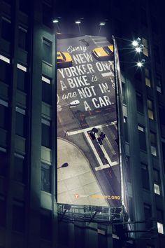 Bike Like a New Yorker | feel desain #billboard #design