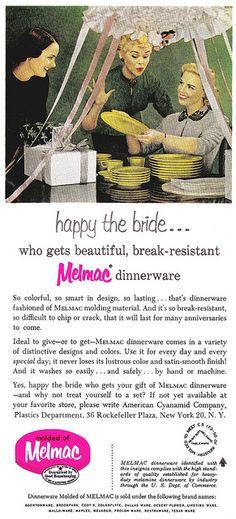 Melmac dinnerware
