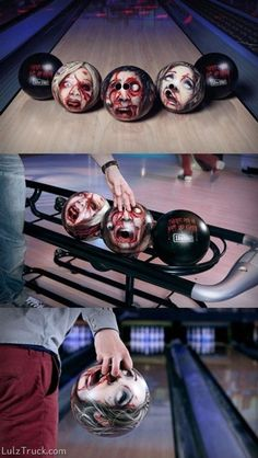 Bowling ball zombies... Omg, I want!