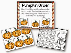 Fall literacy work stations and a sale