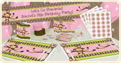 Monkey Girl - Birthday Party Theme georgia birthday, monkey birthday, girl birthday, parti theme, birthday idea, girls birthday parties, monkey parti, birthday party themes, parti idea