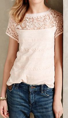 love the neckline and sleeves on this tee http://rstyle.me/n/p5zt2pdpe