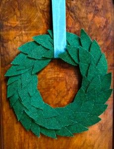 Make an Upcycled Coat Wreath from mrspollyrogers.com.  Video. too!  :)
