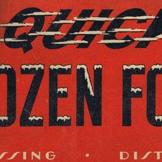 Double header with Fast Type and #icycaps in this vintage frozen foods specimen.  #typehunter #vintagelettering