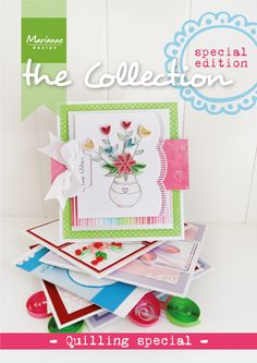 Collection quilling Special with many examples made with the September 2014 quilling collection from Marianne Design