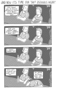 """Shit Asexuals hear"" #comic #gsm #lgbtq #feminism"