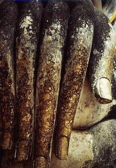 Gigantic hand of Buddha at temple in Sukothai, Thailand