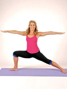Yoga newbie? Try this 10-minute routine based on easy #yoga poses from Denise Austin.  #exercise #fitness