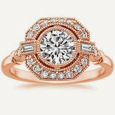 rose gold Ostara engagement ring from Brilliant Earth