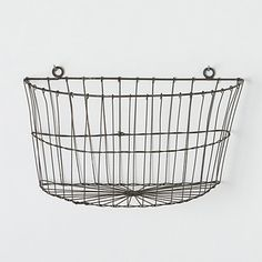 wire wall baskets for vegetable storage | Half Moon Wire Wall Basket in Gardening PLANTERS Outdoor Planters at ...