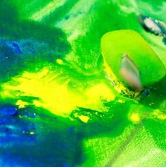 An art project for a hot day - paint with frozen paint cubes