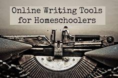 Online Writing Tools for Homeschoolers #homeschool