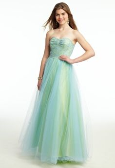 Tulle and Lace Ballgown Prom Dress from Camille La Vie and Group USA