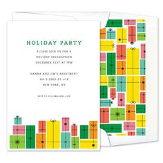 Holiday Presents Invitations - Real Simple (finestationery.com)