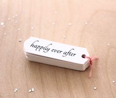 happily ever after wedding favor tags by Nice Package Design