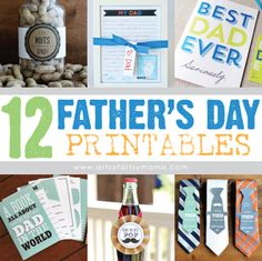 12 Free Father's Day Printables at artsyfartsymama.com #FathersDay #printable #roundup