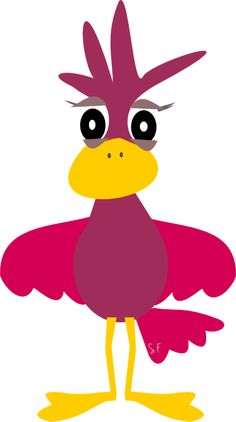 Pinky: digital funny bird scrapbooking embellishment – cute for kids scrapbooking pages
