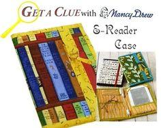 Get A Clue Nancy Drew E Reader Case Kit All Moda Fabric Plus Awesome Pattern   eBay