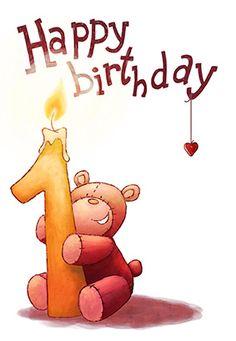 """""""1st birthday teddy bear"""" printable card. Customize, add text and photos. print for free! #Birthday #Card"""