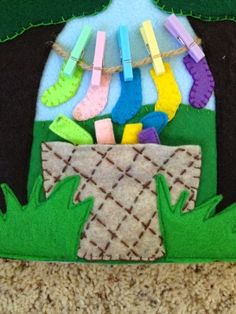 Laundry page with little clothespins