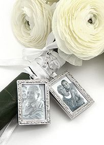 DB Exclusive Personalized Photo Bouquet Charm Set, STYLE SET1467-W #davidsbridal @weddingideas
