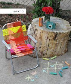 DIY Woven chair